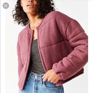 Urban Outfitters Allie Quilted Puffer Cardigan